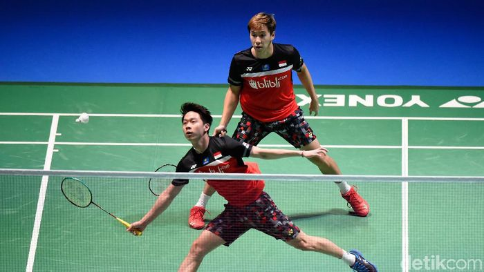 Photo of Kevin/Marcus Maju ke Semifinal Fuzhou China Open, Hendra Kandas 2019