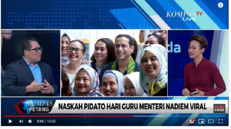Jokowi Berkata Ini Pilihan Tepat Karena Pidato Nadiem Makarim Menjadi Viral