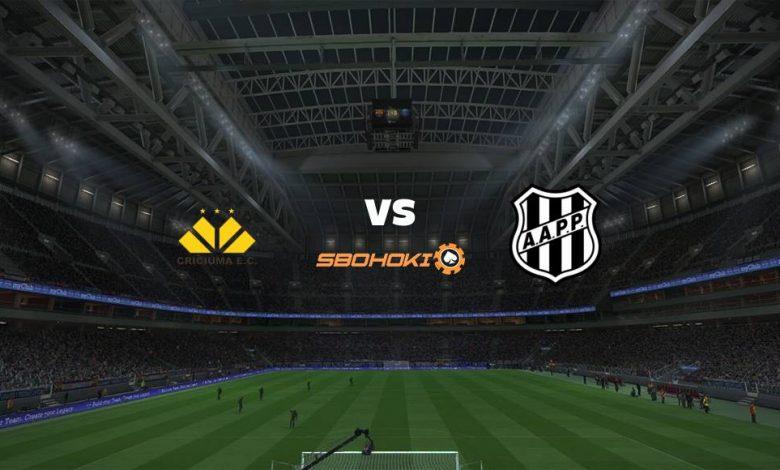 Live Streaming Cricima vs Ponte Preta 8 April 2021 1
