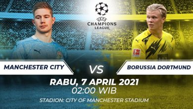 Photo of Prediksi Bola Manchester City vs Borussia Dortmund: Adu Tangkas Bintang Muda