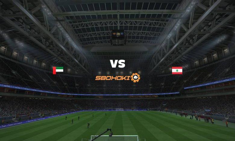 Live Streaming United Arab Emirates vs Lebanon 2 September 2021 1