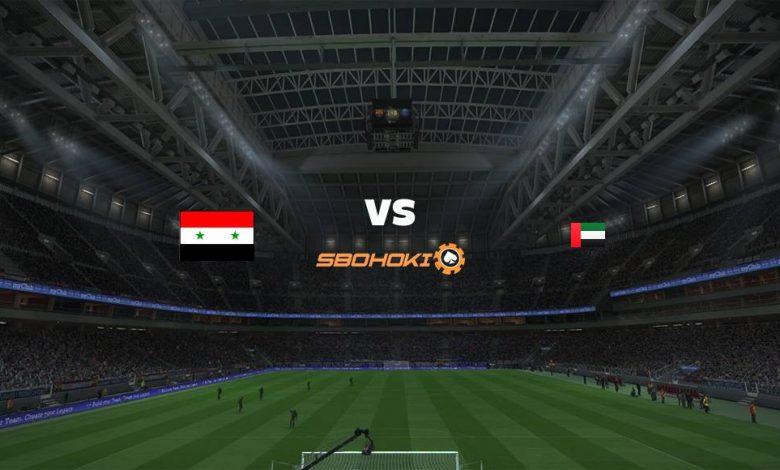 Live Streaming Syria vs United Arab Emirates 7 September 2021 1